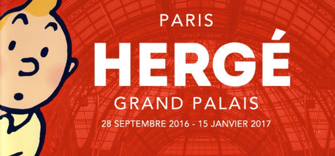 Hergé at the Grand Palais