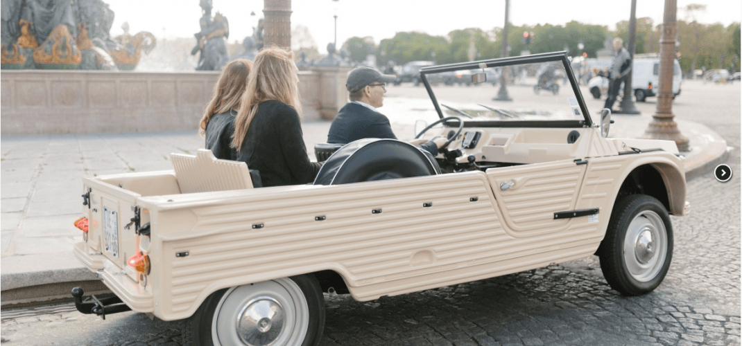 What about doing a little tour of Paris in an old Méhari, seems like fun right?